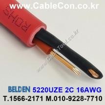 BELDEN 5220UZE 002(Red) 2C 16AWG 벨덴 30M