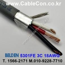 BELDEN 5301FE 008(Gray) 3C 18AWG 벨덴 150M