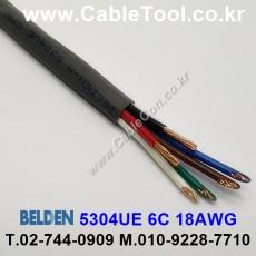 BELDEN 5304UE 008(Gray) 6C 18AWG 벨덴 300M
