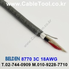 BELDEN 8770 060(Chrome) 3C 18AWG 벨덴 300M